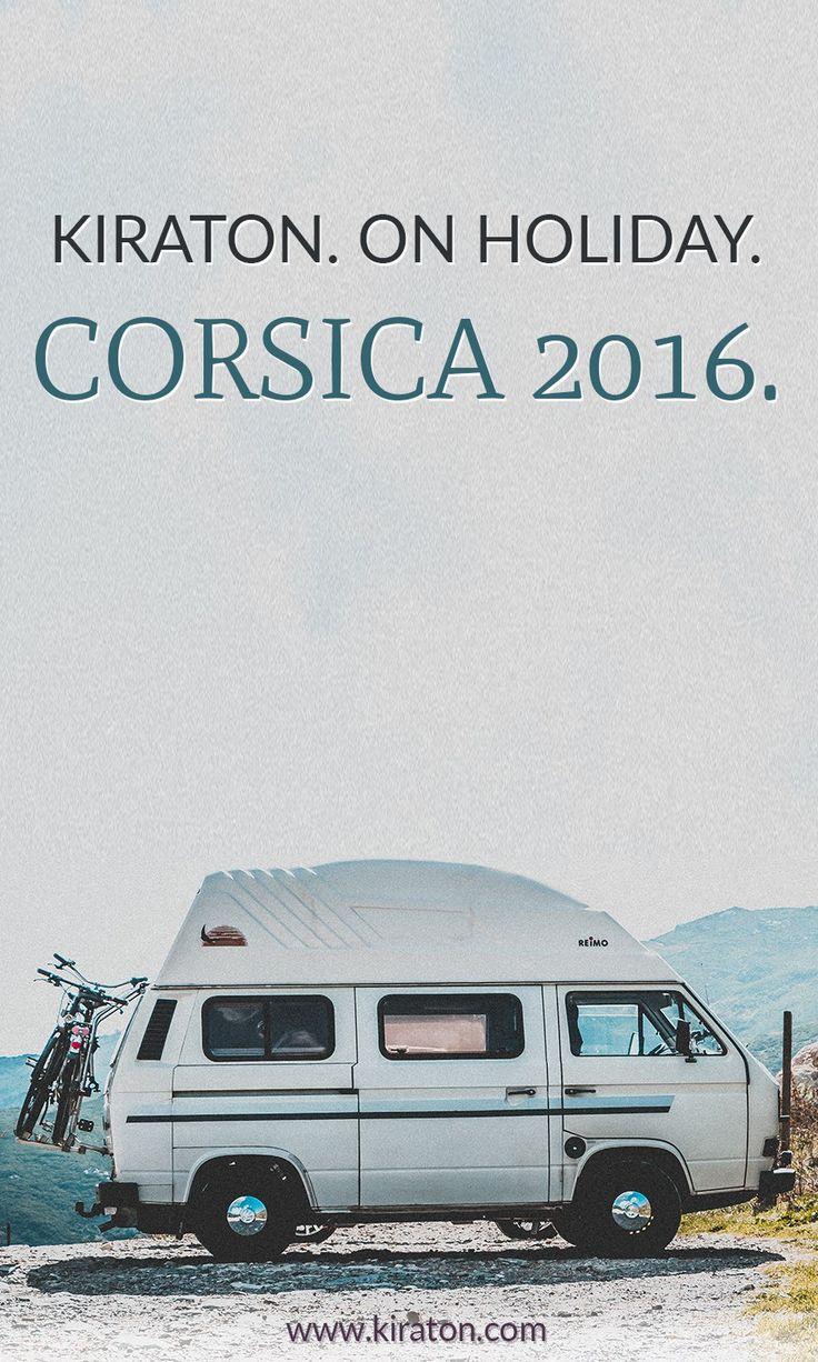 Bild von einem VW-Bus T3, und der Aufschrift: Kiraton auf Korsika. | Ein Reisetagebuch.