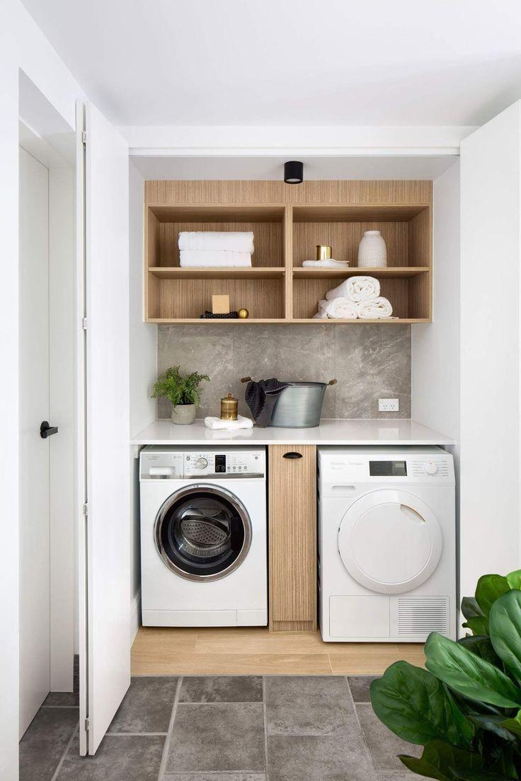 Schon Durchdacht Gestaltete Hauswirtschaftsraum Waschmaschine Trockner Durchdacht Ge Waschkuchenorganisation Waschkuchendesign Hauswirtschaftsraum