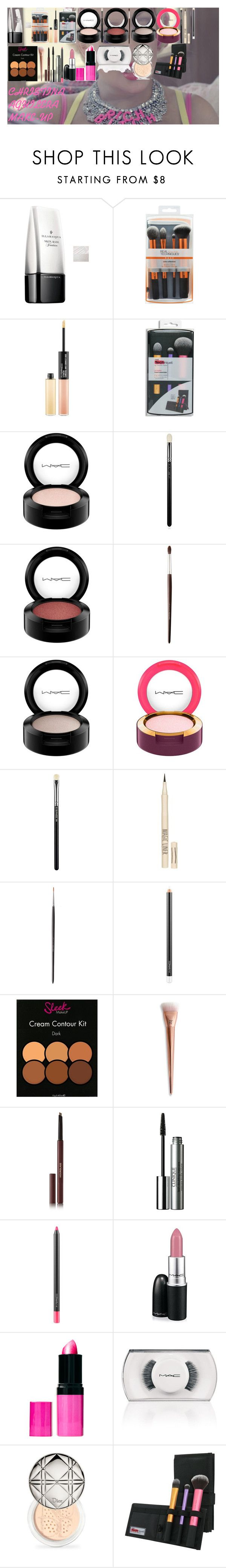 """CHRISTINA AGUILERA MAKE-UP"" by oroartye-1 on Polyvore featuring beauty, Illamasqua, MAC Cosmetics, Louise Young Cosmetics, Topshop, Hourglass Cosmetics, Clinique, Barry M and Christian Dior"