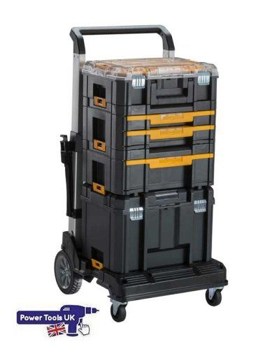 DeWALT DWST1-71196 TSTAK Trolley from Power Tools UK big stockist and main dealer  http://www.powertoolsuk.co.uk/dewalt-dwst1-71196-t-stak-trolley-with-folding-handle.html