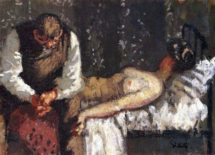 Walter Sickert – The Camden Town Murder – 1908 – Yale Center for British Art