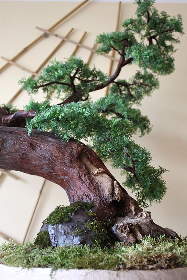 sztuczne drzewko bonsai wykonane na indywidualne zamówienie