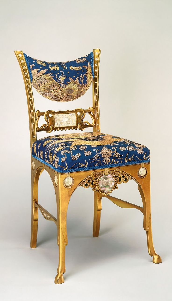 Rare original beech stained chair by eugene gaillard circa 1900 at - Side Chair Gustave Herter1881 1882 Gilt Maple Mother Of Pearl