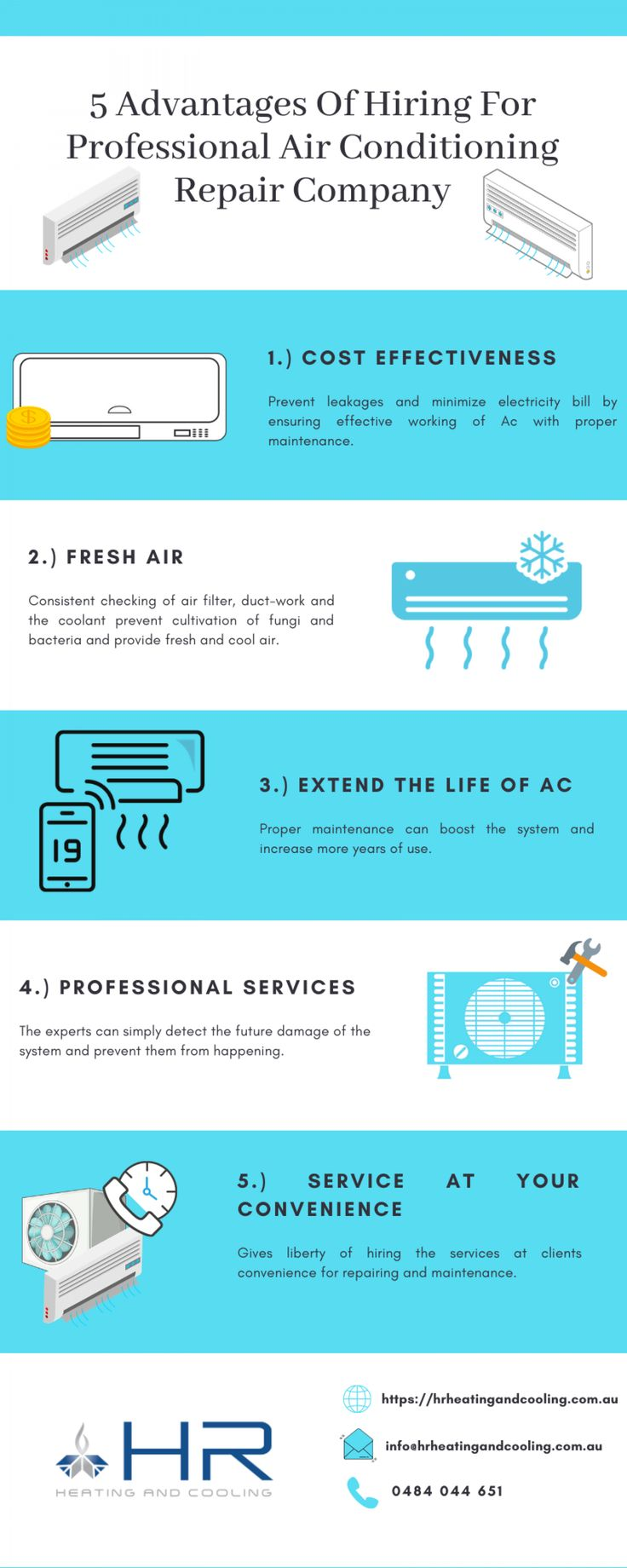 5 Advantages of hiring for Professional Air conditioning