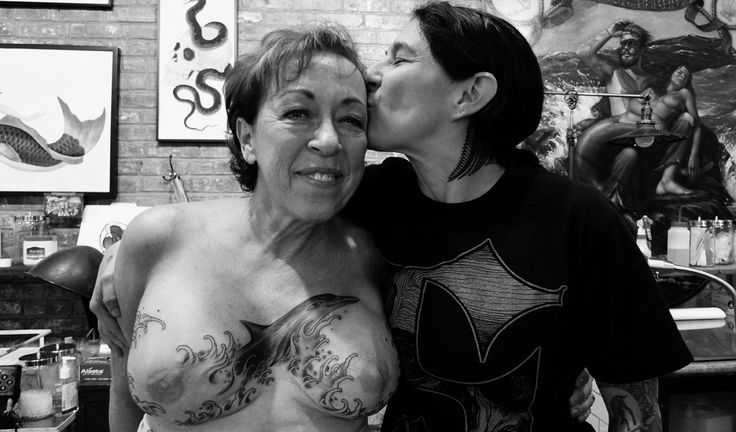 Stephanie Tamez from Saved Tattoo hugs and kisses Charisse ...