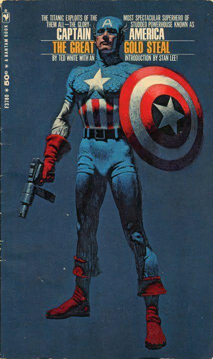 Bantam paperback cover for Captain America By Robert McGinnis