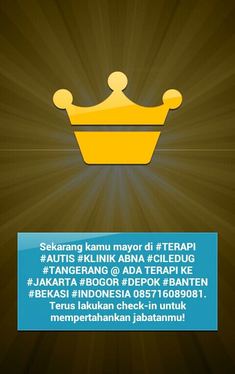#TERAPI #AUTIS #KLINIK ABNA #CILEDUG #TANGERANG @ ADA TERAPI KE #JAKARTA #BOGOR #DEPOK #BANTEN #BEKASI #INDONESIA 085716089081