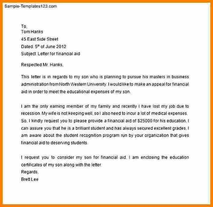 Letter Of Financial Support 8 How To Write A Letter Asking For Financial Support Financial Assistance Financial Aid Lettering