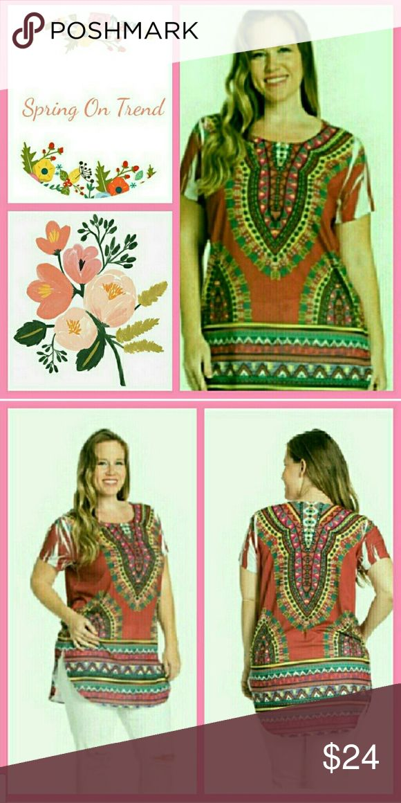 🌻 Aztec Border Top 95% Polyester  5% Spandex. Top runs a little small according to their size. You may want to order one size up. Tops
