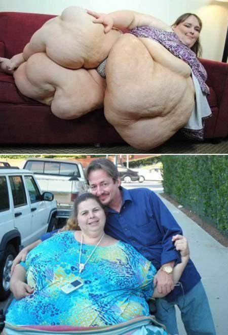 A mulher mais pesada do mundo está queimando 500 calorias fazendo sexo com seu ex-marido. Pauline Potter, 47, afirma que já perdeu 44 dos 292 kg apenas fazendo sexo pelo menos sete vezes por dia.  http://www.superpostagem.com.br/pub.asp?cp=2181131