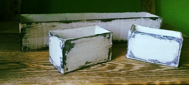 Drevené kvetináče / Wooden flower boxes
