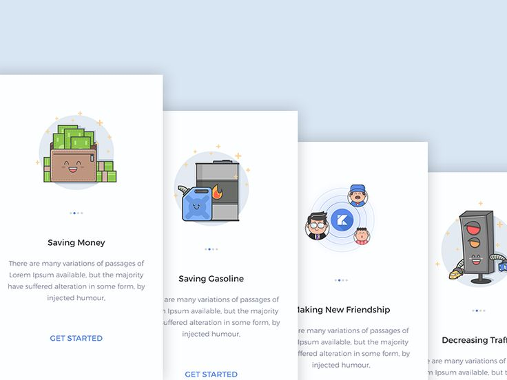Mobile UI Design Onboarding Illustration
