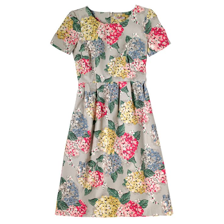 Hydrangea Set in Sleeve Textured Dress | Cath Kidston |