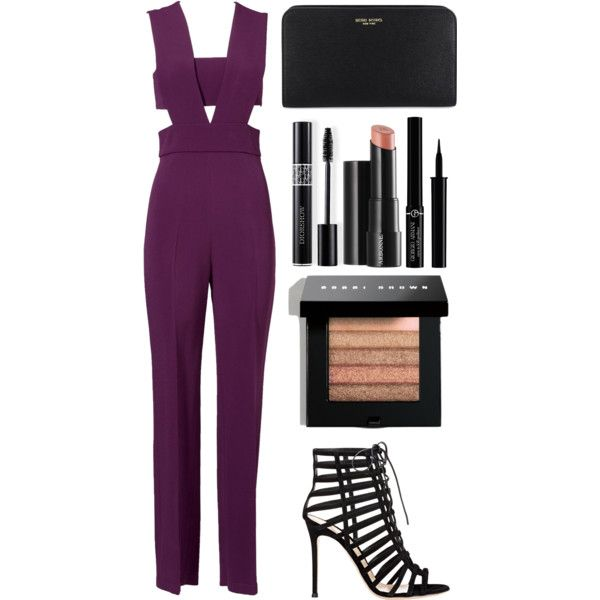 Style #354 by maksimchuk-vika on Polyvore featuring Cushnie Et Ochs, Gianvito Rossi, Henri Bendel, Bobbi Brown Cosmetics, Christian Dior, Giorgio Armani and Arbonne
