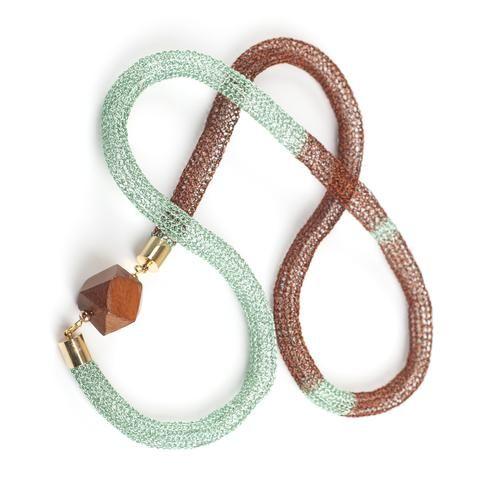 Geometric tube necklace