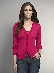 Chelsea Box Pleat Trimmed Cardigan