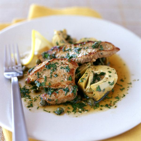 entulinea.es: Receta de entulínea - Filete de ternera con alcachofas y salsa de alcaparras y limón