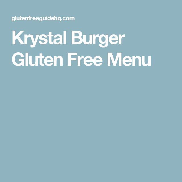 Krystal Burger Gluten Free Menu
