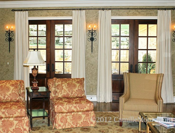 44 best curtains for french doors images on pinterest for Curtains for french doors ideas