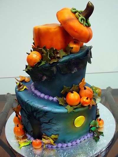 Cool Halloween Cake Recipes Decorated Cakes Pinterest