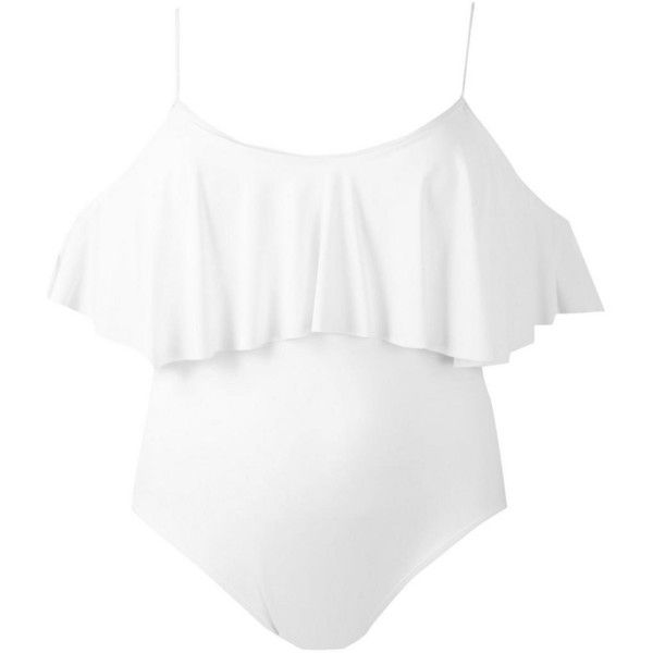 Boohoo Plus Sia Drape Sleeve Swimsuit ($36) ❤ liked on Polyvore featuring swimwear, one-piece swimsuits, swim suits, draped swimsuit, swimsuit swimwear, swim costume and bathing suit swimwear