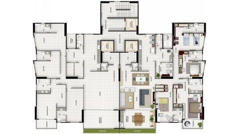 Apartamentos novos, prontos, 4 suítes sendo 1 master com closet e varanda, 4 vagas de garagem, no Altiplano, João Pessoa, Paraíba.