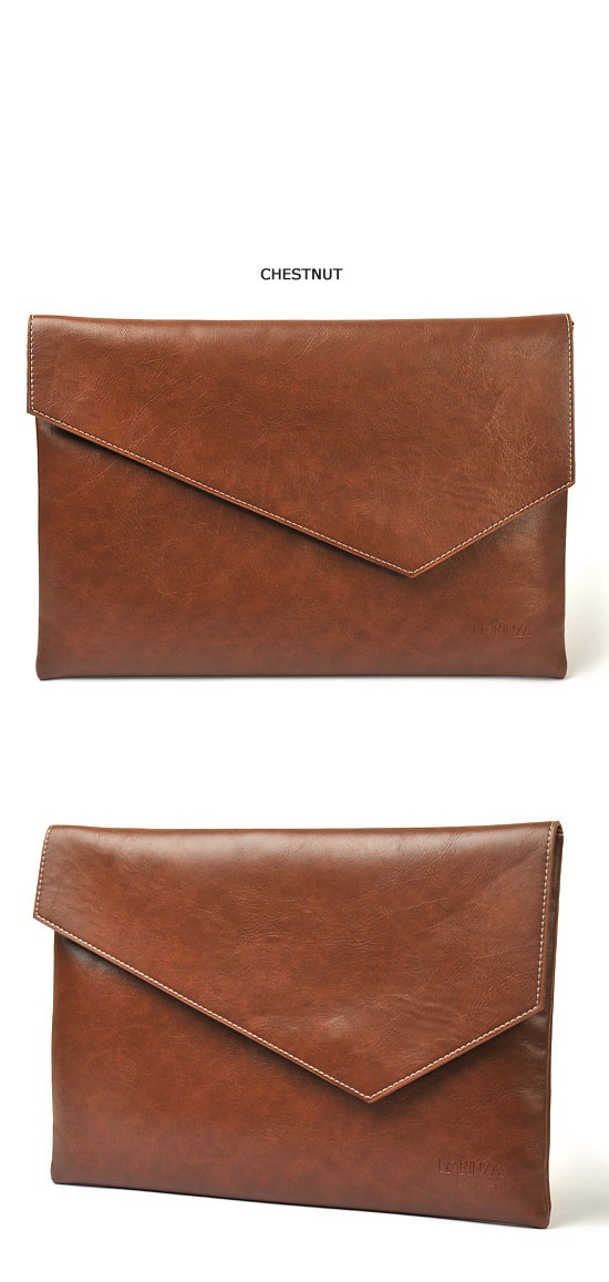Accessories :: Bags :: Modern Minimal Leather Clutch-Bag 49 - Mens Fashion Clothing For An Attractive Guy Look                                                                                                                                                                                 Más