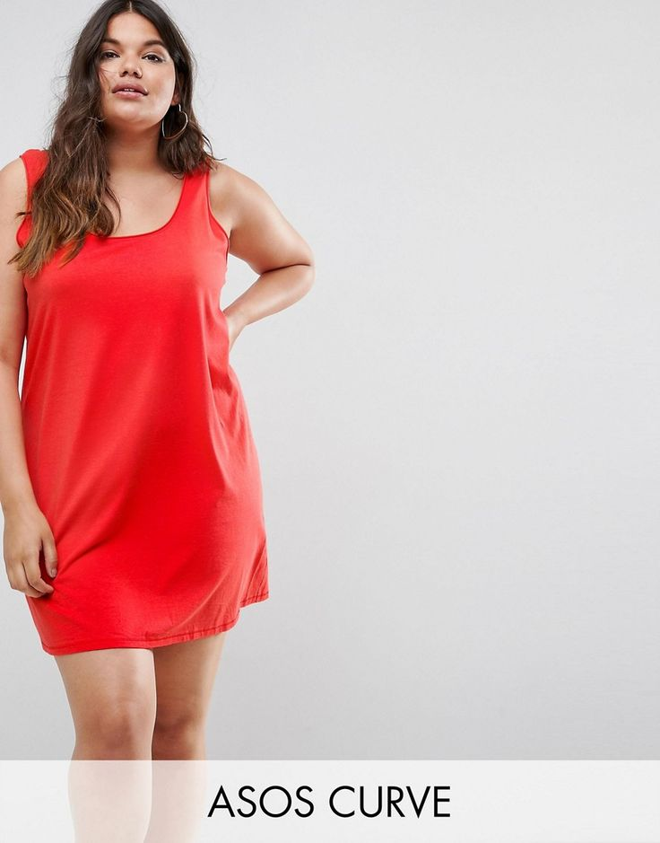 ASOS CURVE Ultimate Mini Tank Dress - Red