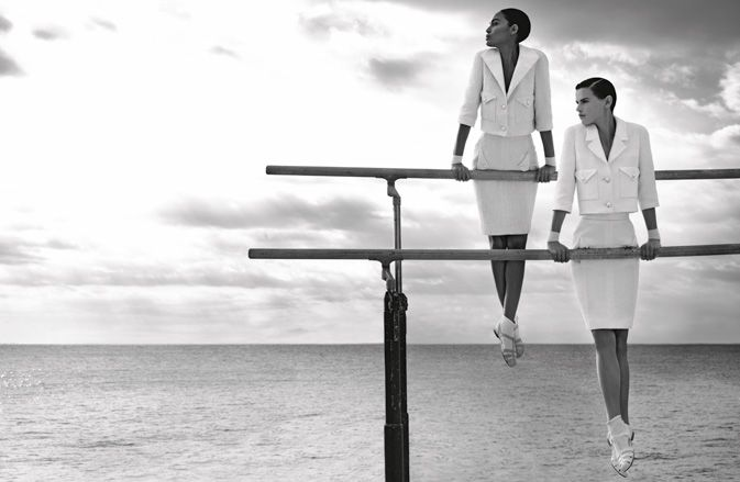 Chanel Summer Ready-to-wear: Chanel Ss, Chanel Ads, Ads Campaigns, Spring Summer, Chanel Spring, Chanel 2012, Joan Small, 2012 Campaigns, Karl Lagerfeld