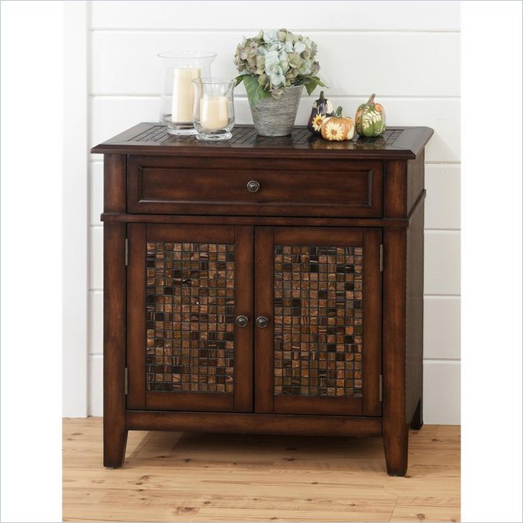 jofran 698 series accent cabinet with tile inlay