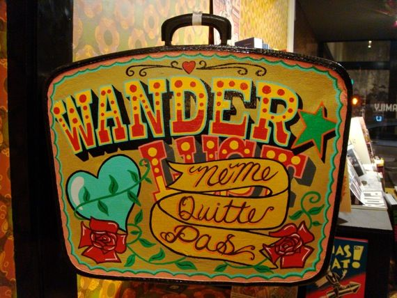 Painted Suitcase Suitcase Of Trouble: Aaron Rose - WE DESIGN STUDIOS Painted Suitcase