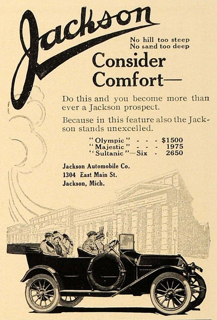 Vintage bathroom ads - 1913 Ad Jackson Car Models Jackson Automobile Co Jackson Mich