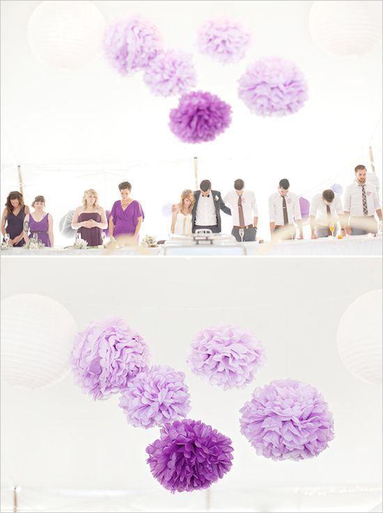pompons-mauve-violet