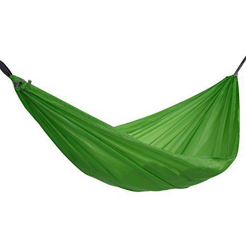 OUTAD Hamac Parachute Nylon Portable Jardin Camping Randonnée 1 / 2 Place Charge Poids Maxi 90 / 200KG Longueur 190 / 270CM (2 Place, Vert)…