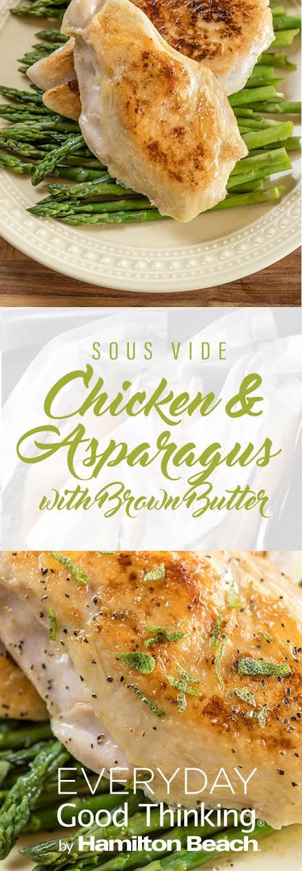 Sous Vide Chicken and Asparagus Pinterest Graphic