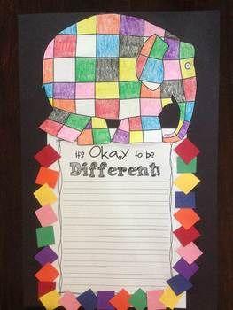 Elmer the Elephant Printables  Craftivity!