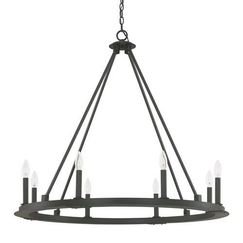 Capital Lighting Fixture Company Pearson Black Iron Eight Light Chandelier On SALE