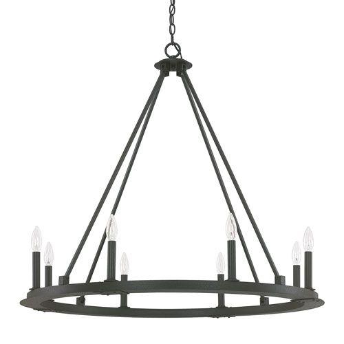 17 Best ideas about Black Iron Chandelier on Pinterest | Buffalo ...:Capital Lighting Fixture Company Pearson Black Iron Eight Light Chandelier  On SALE,Lighting