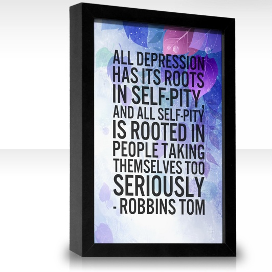 not to make light of or invalidate depression, but there is truth in this.