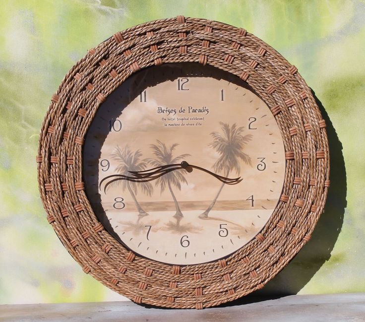 Palm Tree Tropical Wall Clock - Battery  #Unbranded #Tropical
