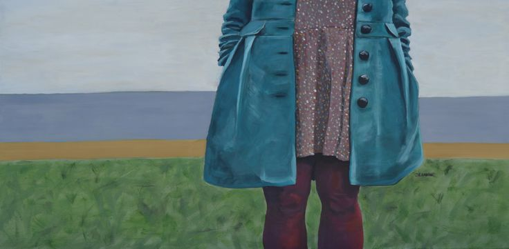 The Girl In Blue Coat (100 x 50cm)   CHF 280.-