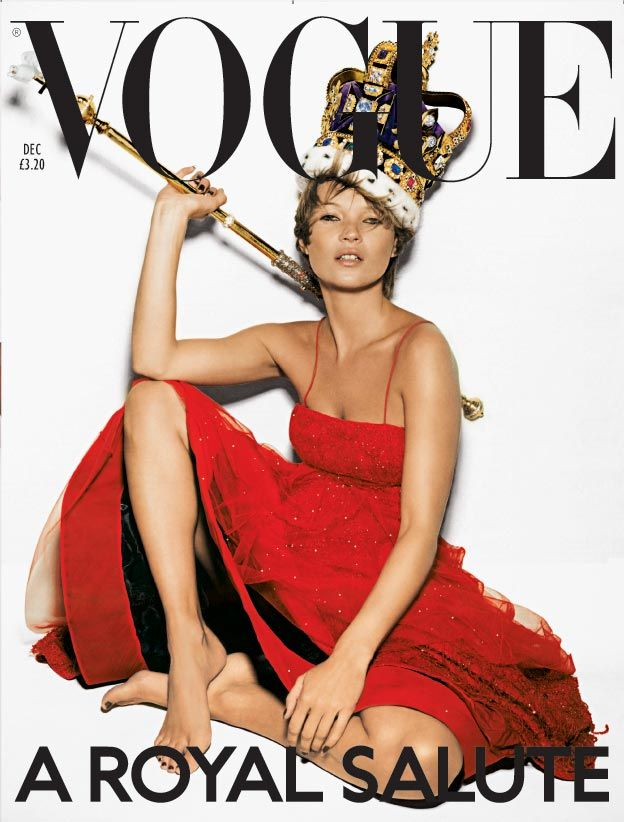 British Vogue fashion magazine cover: December 2001