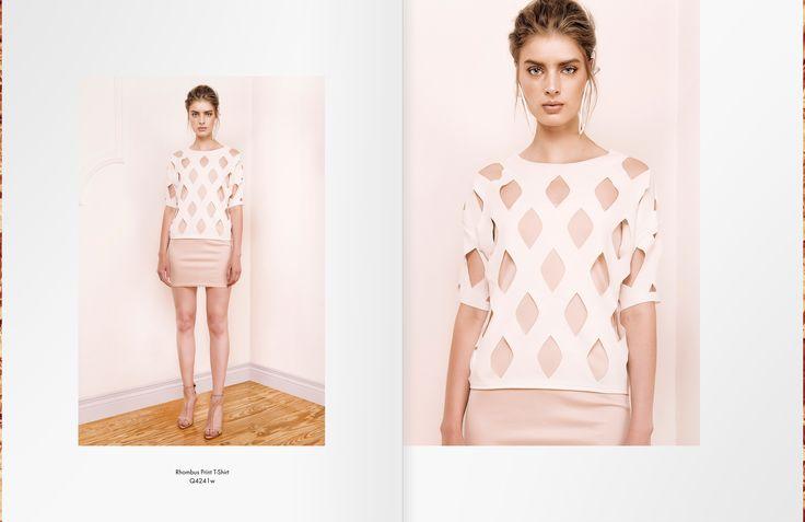 Rhombus Print T-shirt http://cutcuutur.com/shop/rhombus-print-t-shirt-detail
