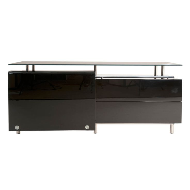 modern life lorenzo lacquer and medium dining buffet - Buffet Noir