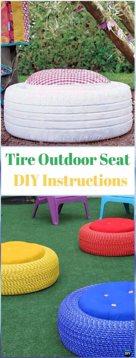 DIY Tire Outdoor Seats Instructions DIY