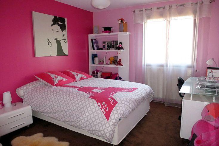 photo chambre fille rose  chambre à coucher design  chambre