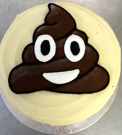 Poop Emoji Birthday Cake X
