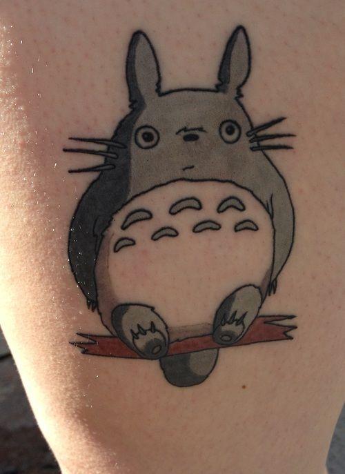 Totoro, done in Utica Michigan done by Josh Fallon at Big Top Tattoos