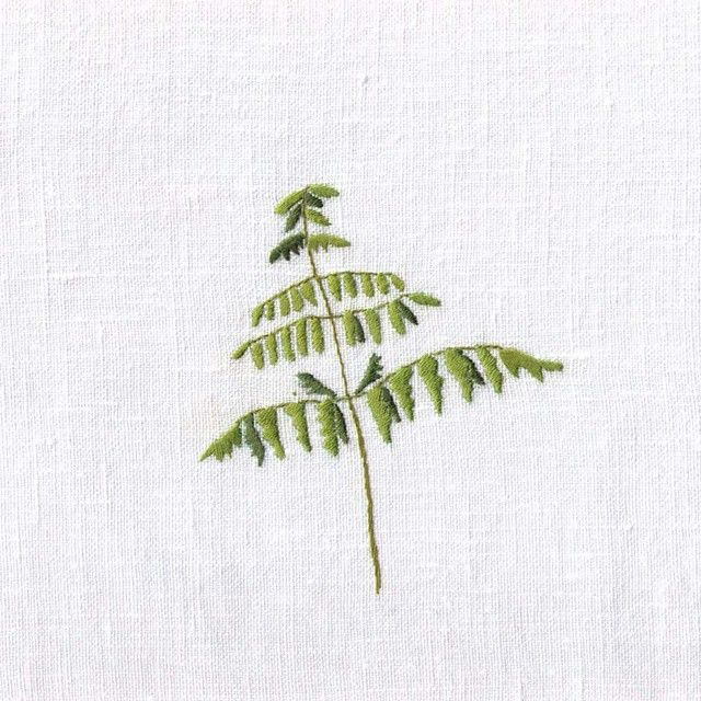 #foliumm #embroidery #fern