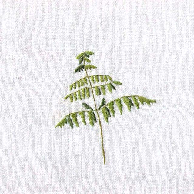 #foliumm #embroidery #fern